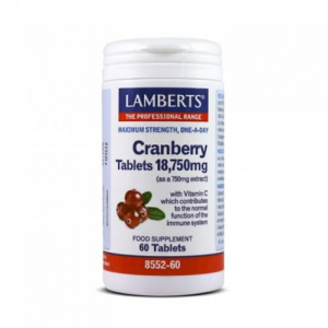 Lamberts Cranberry tablets 18,750mg (as a 750mg extract), 60 tabs
