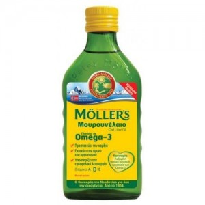 Moller's Μουρουνέλαιο Natural Παραδοσιακό Μουρουνέλαιο σε Υγρή Μορφή με την Κλασσική Γεύση του Μουρουνέλαιου, 250ml