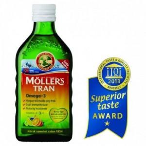 Moller's Μουρουνέλαιο Tutti Frutti Παραδοσιακό Μουρουνέλαιο σε Υγρή Μορφή με Γεύση Φρούτων 250ml