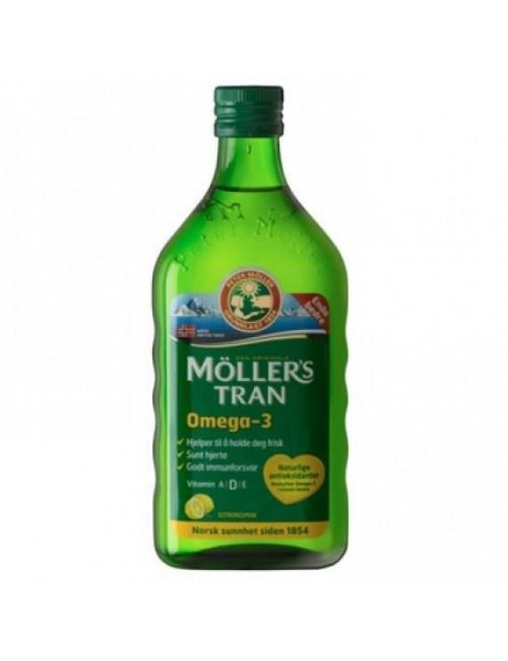 Moller's Μουρουνέλαιο Παραδοσιακό Μουρουνέλαιο σε Υγρή Μορφή με Γεύση Λεμονι 250ml