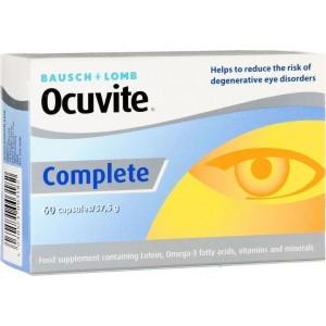 Ocuvite Complete Συμπλήρωμα Διατροφής για την καλή υγεία & προστασία των ματιών, 60caps