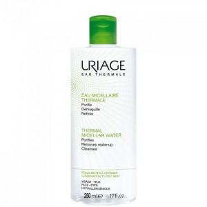 Uriage Eau Thermale Eau Micellaire Καθαριστική Λοσιόν Προσώπου & Ματιών, για τη Μικτή προς Λιπαρή Επιδερμίδα, 250ml