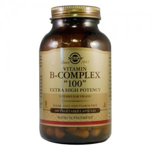 Solgar B-Complex 100mg Extra High Potency 100 Vegetable Capsules