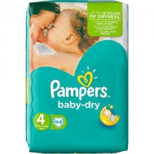 Pampers Baby-Dry No. 4 (7 - 18Kg) 44 τμχ