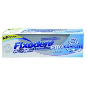 FIXODENT Pro Complete Fresh Στερεωτική κρέμα για ολικές και μερικές τεχνητές οδοντοστοιχίες 47 gr
