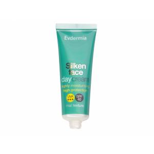 Evdermia Silken Face Day Cream SPF40 Ενυδατική Αντηλιακή Κρέμα Προσώπου, 50ml