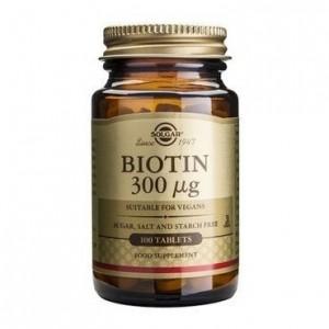 SOLGAR BIOTIN 300μg tabs 100s