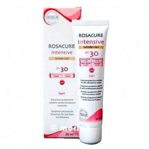 Synchroline Rosacure Intensive Teintee Clair SPF30 Αντηλιακή Κρέμα Προσώπου με χρώμα για τις Ευαίσθητες σε Ερυθρότητα Επιδερμίδες, 30 ml
