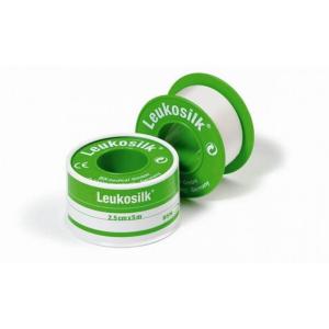 Leukosilk, 2.5cm x 4,6m : Λευκό ρολό από συνθετικό μετάξι το οποίο είναι ιδανική για ευαίσθητες επιδερμίδες