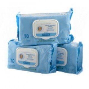 Klorane Bebe Cleansing Wipes, Gift Offer (2+1), 3 x 70 pc.Μωρομάντηλα για τον καθαρισμό μετά την αλλαγή της πάνας