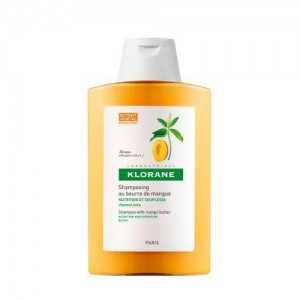 Klorane Shampoo Beurre De Mangue Σαμπουάν με βούτυρο από Μάνγκο για ξηρά - ταλαιπωρημένα μαλλιά 200ml