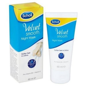 DR. Scholl Velvet Soft Maschera Notte Ενυδατική Κρέμα Μάσκα Νύχτας, 60 ml