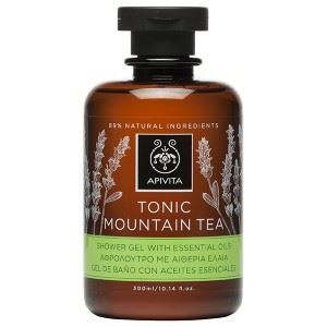 Apivita Tonic Mountain Tea Αφρόλουτρο με Περγαμόντο & Πράσινο Τσάι, 300ml