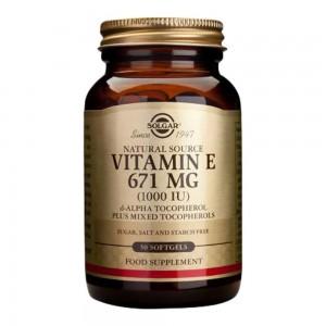 SOLGAR - Vitamin E 1000 IU (671mg) Καρδιαγγειακή Υγεία - 50tabs