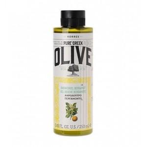 Korres Pure Greek Olive Shower Gel Bergamot Αφρόλουτρο με Άρωμα Περγαμόντο, 250ml