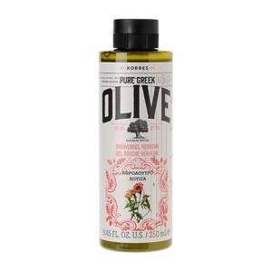 Korres Pure Greek Olive Shower Gel Verbena Αφρόλουτρο με Άρωμα Λουίζα, 250ml