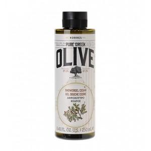 Korres Pure Greek Olive Shower Gel Cedar Αφρόλουτρο με Άρωμα Κέδρου, 250ml