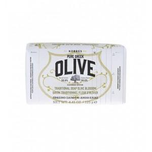 Korres Pure Greek Olive Tradional Soap Olive Blossom Παραδοσιακό Πράσινο Σαπούνι με Άνθη Ελιάς, 125gr