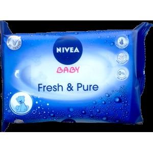 Nivea Baby FRESH & PURE Μωρομάντηλα, 63 τεμάχια