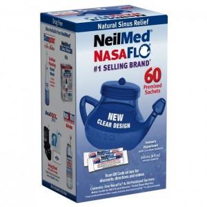 NEILMED Sinus NASAFLO NETIPOT 60 PREMIXED SACHETS 240ML