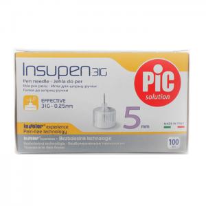 PIC Insupen Βελόνες για Πένα Ινσουλίνης 31G x 5mm, 100 τεμάχια