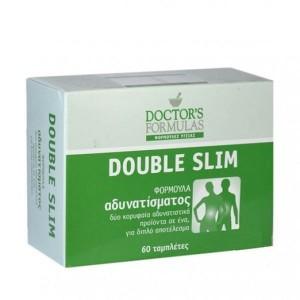 Doctor's Formulas Double Slim Διπλή Φόρμουλα Αδυνατίσματος 60 ταμπλέτες
