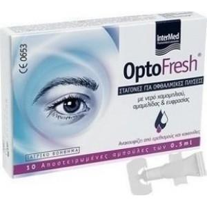 INTERMED OptoFresh  Σταγονες για Οφθαλμικες πλυσεις 10amp x 5ml