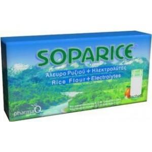 Soparice 4 Φακελλίδια με σκόνη που περιέχει 6g κρέμας ρυζιού και 1,23g ηλεκτρολύτες
