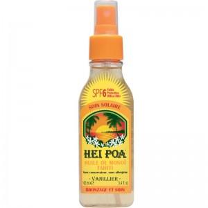 HEI POA Tahiti Monoi Oil SPF6 Vanilla Spray Λάδι Monoi για Προστασία από τον Ήλιο με Άρωμα Βανίλια (100ml)