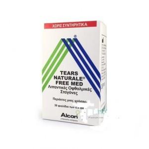 Alcon Tears Naturale Free Med Οφθαλμικές Σταγόνες σε περιέκτες μιας Χρήσης, 30 x 0.4 ml