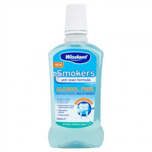 Wisdom  Αντιβακτηριδιακό Στοματικό Διάλυμα για Καπνιστες Fresh Mint 500ml