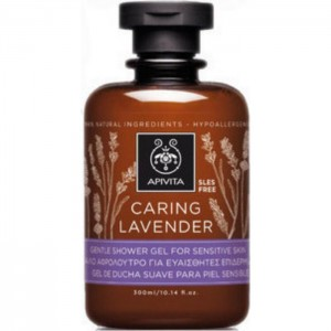 Apivita Caring Lavender Υποαλλεργικό & Απαλό Αφρόλουτρο με Λεβάντα & Ελαιόλαδο για Ευαίσθητες Επιδερμίδες, 300ml
