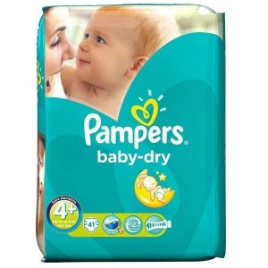 PAMPERS Baby Dry Maxi Plus No. 4 + (9-20 kg) 41 τμχ