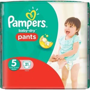 Pampers Baby Dry Pants Junior No. 5 (12 - 18 Kg) Πάνα Βρακάκι, 21 τεμάχια