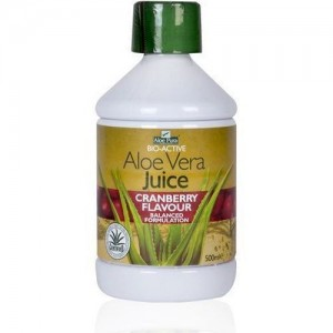 Optima Aloe Vera Juice Cranberry Flavour BIO-ACTIVE 500ML