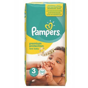 Pampers New Baby Midi 50τεμ No3 (4-9kg)