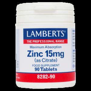 Lamberts ZINC 15mg (Citrate) - Ανοσοποιητικό, 90tabs