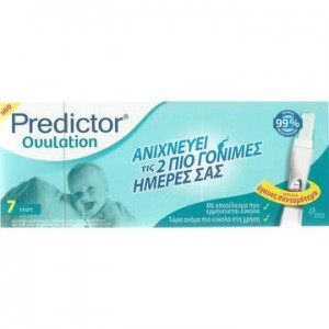 Predictor Ovulation Τέστ Ωορρηξίας, 7 test .Aνιχνεύει τις 2 πιο Γόνιμες Ημέρες σας, εύκολο στη χρήση