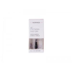 Korres 40'' Fast Dry Top Coat για Γρήγορο Στέγνωμα των Νυχιών με Μύρο & Καμέλια, 10ml
