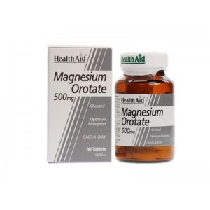 Health Aid MAGNESIUM Orotate 500mg, 30 ταμπλέτες