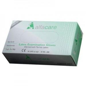 ALFACARE Γάντια Εξεταστικά Latex Large Χωρίς Πούδρα AC-3361 (1x100)