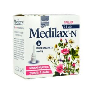 Intermed Medilax-N Παιδικά με χαμομήλι & μολόχα 6gr 6τμχ