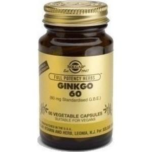 SOLGAR GINKGO 60  60Veg Caps