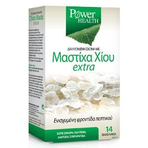 Power Health Mastiha Χίου Extra Αναβράζον Συμπλήρωμα για Έντονες Στομαχικές Διαταραχές, 14 φακελάκια