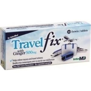 Uni-Pharma Travelfix Συμπλήρωμα Διατροφής Κατά της Ναυτίας 10δισκία