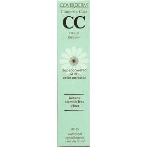 Coverderm Complete Care CC Cream for Eyes SPF15 Light Beige 15ml