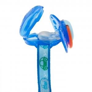 Chicco Κλιπ Πιπίλας με Κάλυμμα Θηλής Μπλε 0m+