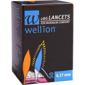 Wellion Αποστειρωμένες Βελόνες - Σκαρφιστήρες 28G 0,37mm (50τεμ)