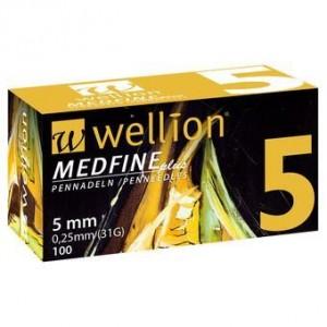 Wellion Medfine plus 31G, Βελόνες για Στυλό Ινσουλίνης 5 mm (100 τμχ.)