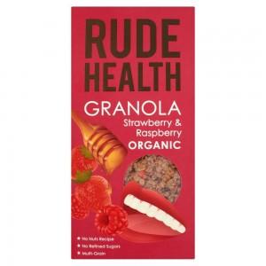 Rude Health Granola Φράουλα & βατόμουρα Βιολογικά 450 γρ